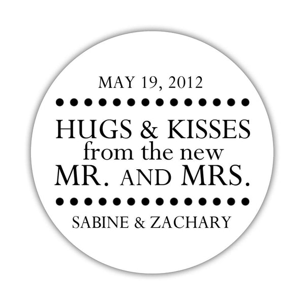 "Hugs and kisses stickers 'Splendid Symmetry' - 1.5"" circle = 30 labels per sheet / Black - Dazzling Daisies"