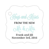 Hugs and kisses tags - Black/Aquamarine - Dazzling Daisies