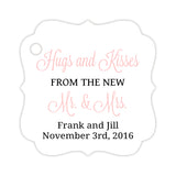 Hugs and kisses tags - Black/Blush - Dazzling Daisies