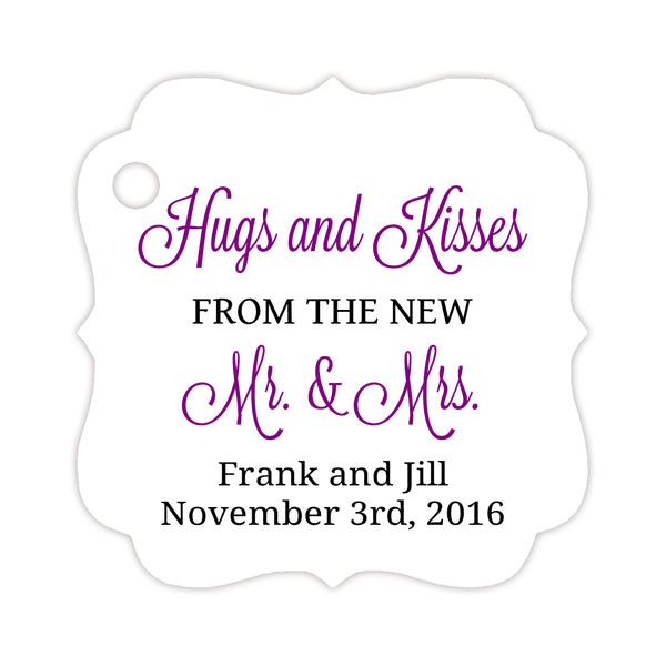 Hugs and kisses tags - Black/Purple - Dazzling Daisies