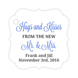 Hugs and kisses tags - Black/Royal blue - Dazzling Daisies
