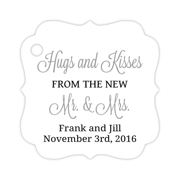 Hugs and kisses tags - Black/Silver - Dazzling Daisies