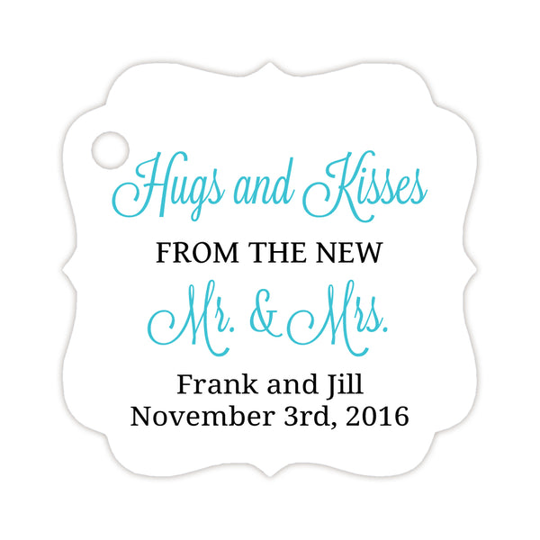 Hugs and kisses tags - Black/Turquoise - Dazzling Daisies