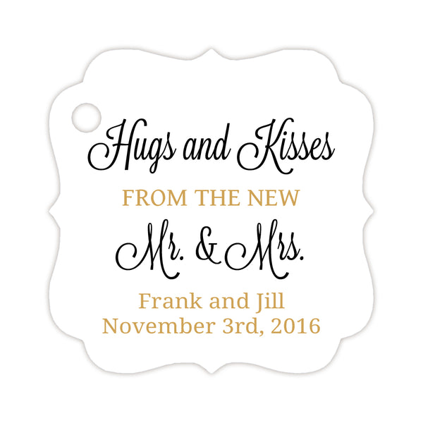 Hugs and kisses tags - Gold/Black - Dazzling Daisies
