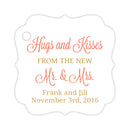 Hugs and kisses tags - Gold/Coral - Dazzling Daisies