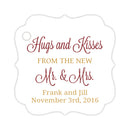 Hugs and kisses tags - Gold/Maroon - Dazzling Daisies