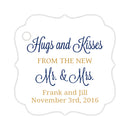 Hugs and kisses tags - Gold/Navy - Dazzling Daisies