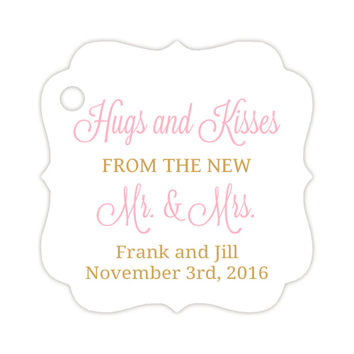 Hugs and kisses tags - Gold/Pink - Dazzling Daisies