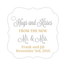Hugs and kisses tags - Gold/Silver - Dazzling Daisies