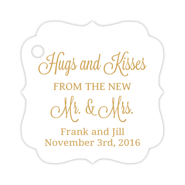 Hugs and kisses tags - Gold - Dazzling Daisies