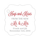 Hugs and kisses tags - Silver/Indian red - Dazzling Daisies