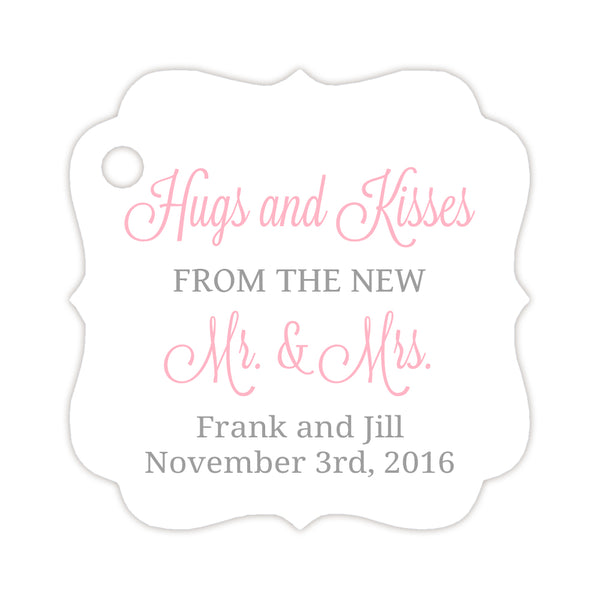 Hugs and kisses tags - Silver/Pink - Dazzling Daisies