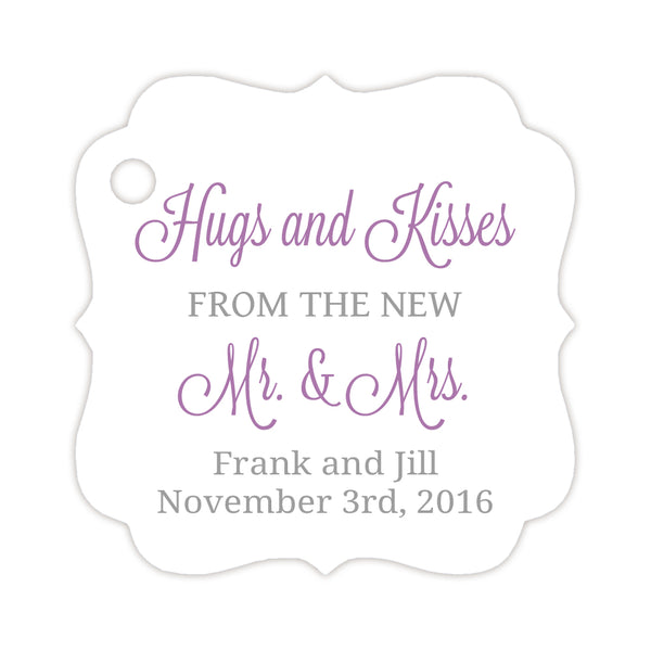 Hugs and kisses tags - Silver/Plum - Dazzling Daisies