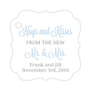 Hugs and kisses tags - Silver/Steel blue - Dazzling Daisies