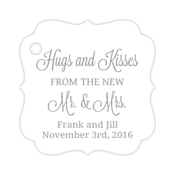 Hugs and kisses tags - Silver - Dazzling Daisies
