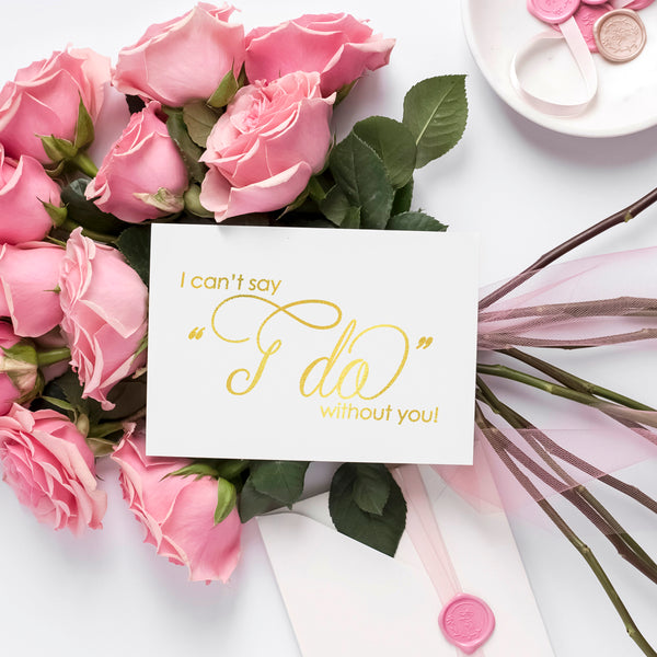I can't say I do without you card 'Luxury Love' - Gold foil - Dazzling Daisies