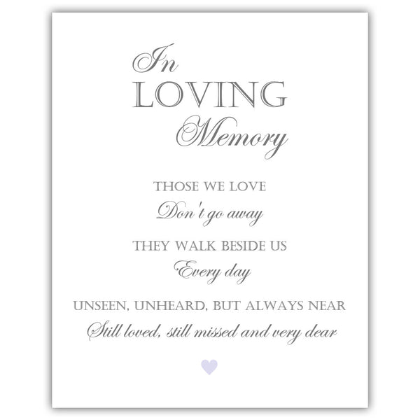 "In loving memory sign - 5x7"" / Lavender - Dazzling Daisies"