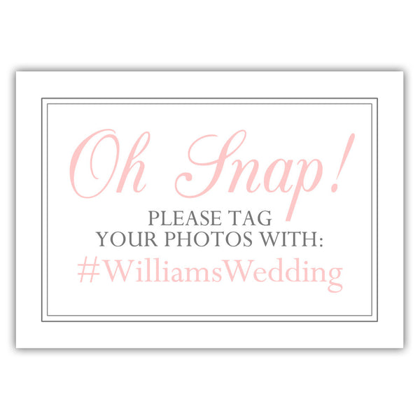 "Oh snap sign - 5x7"" / Blush - Dazzling Daisies"