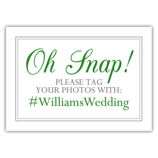 "Oh snap sign - 5x7"" / Green - Dazzling Daisies"