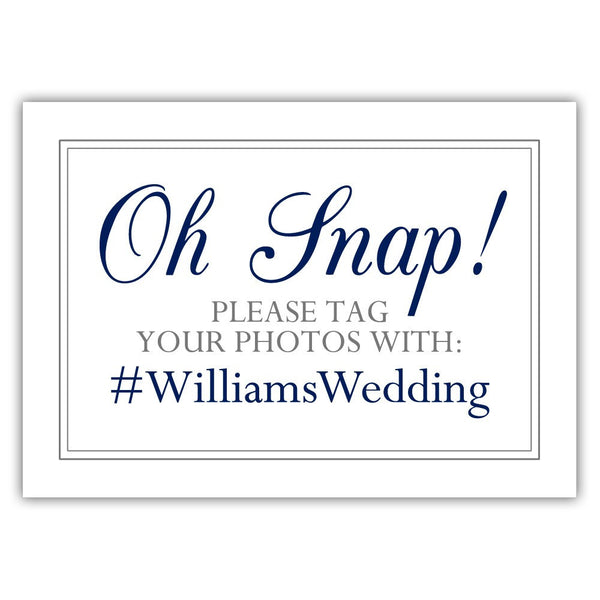 "Oh snap sign - 5x7"" / Navy - Dazzling Daisies"