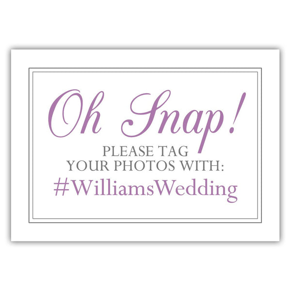 "Oh snap sign - 5x7"" / Plum - Dazzling Daisies"