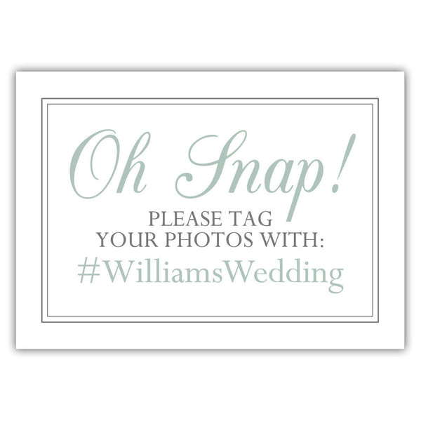 "Oh snap sign - 5x7"" / Sage - Dazzling Daisies"