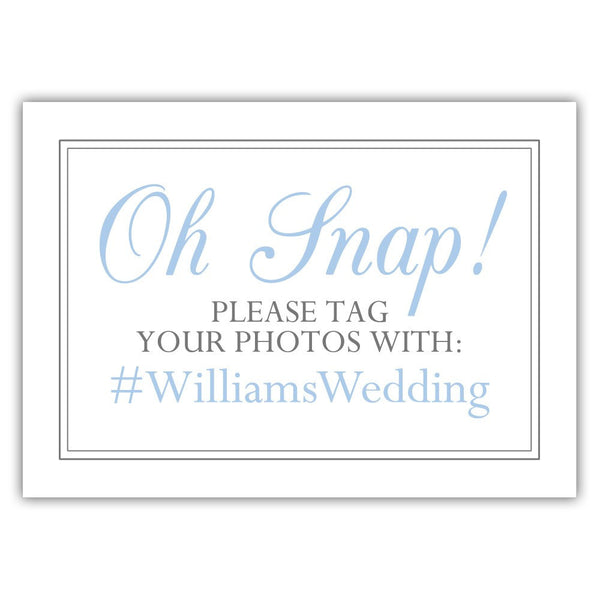 "Oh snap sign - 5x7"" / Steel blue - Dazzling Daisies"