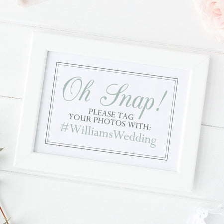 Wedpics sign 'Oh snap'