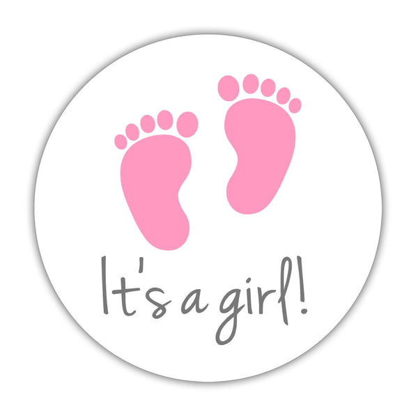 "It's a boy stickers, It's a girl stickers - 1.5"" circle = 30 labels per sheet / It's a girl - Dazzling Daisies"