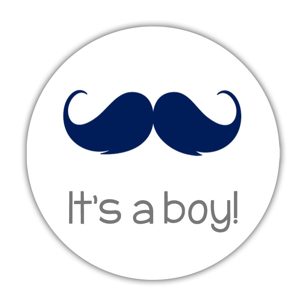 It's a boy stickers - Gender reveal party stickers ...