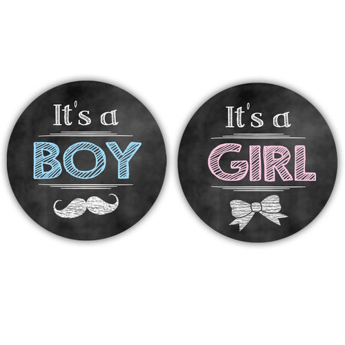 It's a boy stickers, It's a girl stickers 'Vintage Chalk' -  - Dazzling Daisies