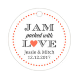 Jam packed with love tags - Coral - Dazzling Daisies