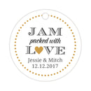 Jam packed with love tags - Gold - Dazzling Daisies