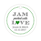 Jam packed with love tags - Green - Dazzling Daisies