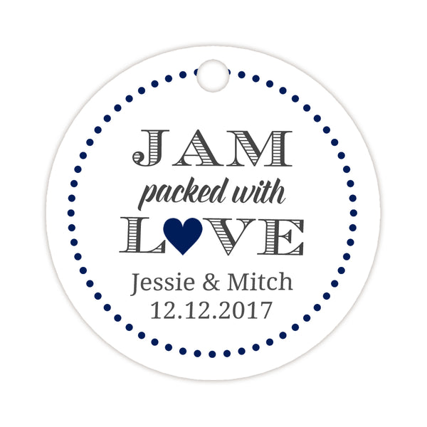 Jam packed with love tags - Navy - Dazzling Daisies