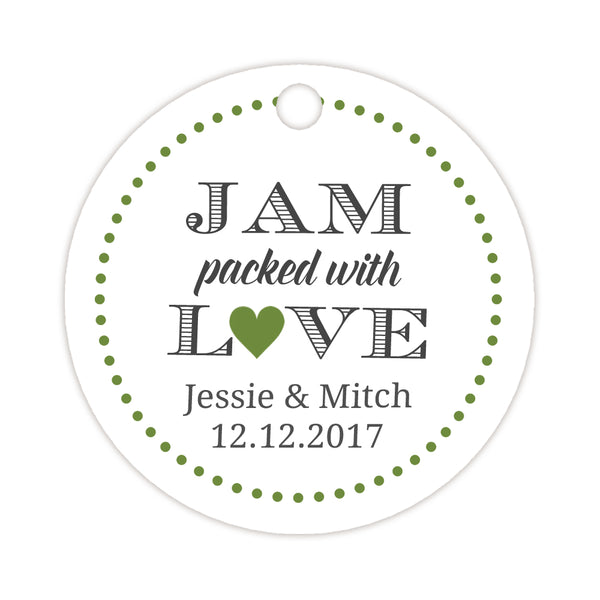 Jam packed with love tags - Olive - Dazzling Daisies