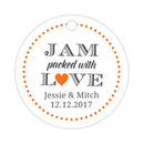 Jam packed with love tags - Orange - Dazzling Daisies