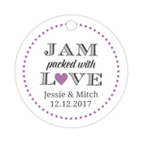 Jam packed with love tags - Plum - Dazzling Daisies