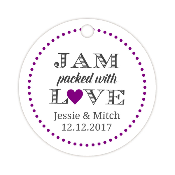 Jam packed with love tags - Purple - Dazzling Daisies