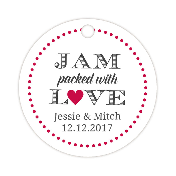 Jam packed with love tags - Raspberry - Dazzling Daisies