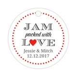 Jam packed with love tags - Red - Dazzling Daisies