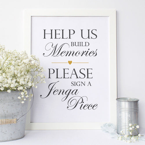 Jenga guest book sign -  - Dazzling Daisies
