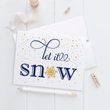 Christmas cards set 'Let it snow' -  - Dazzling Daisies