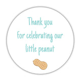 Little peanut baby shower stickers - 1.5