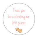 "Little peanut baby shower stickers - 1.5"" circle = 30 labels per sheet / Blush - Dazzling Daisies"