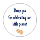 "Little peanut baby shower stickers - 1.5"" circle = 30 labels per sheet / Navy - Dazzling Daisies"