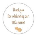 "Little peanut baby shower stickers - 1.5"" circle = 30 labels per sheet / Sand - Dazzling Daisies"