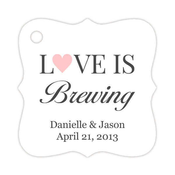 Love is brewing tags - Blush - Dazzling Daisies