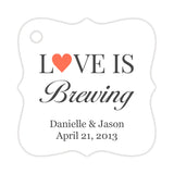 Love is brewing tags - Coral - Dazzling Daisies