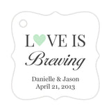 Love is brewing tags - Mint - Dazzling Daisies